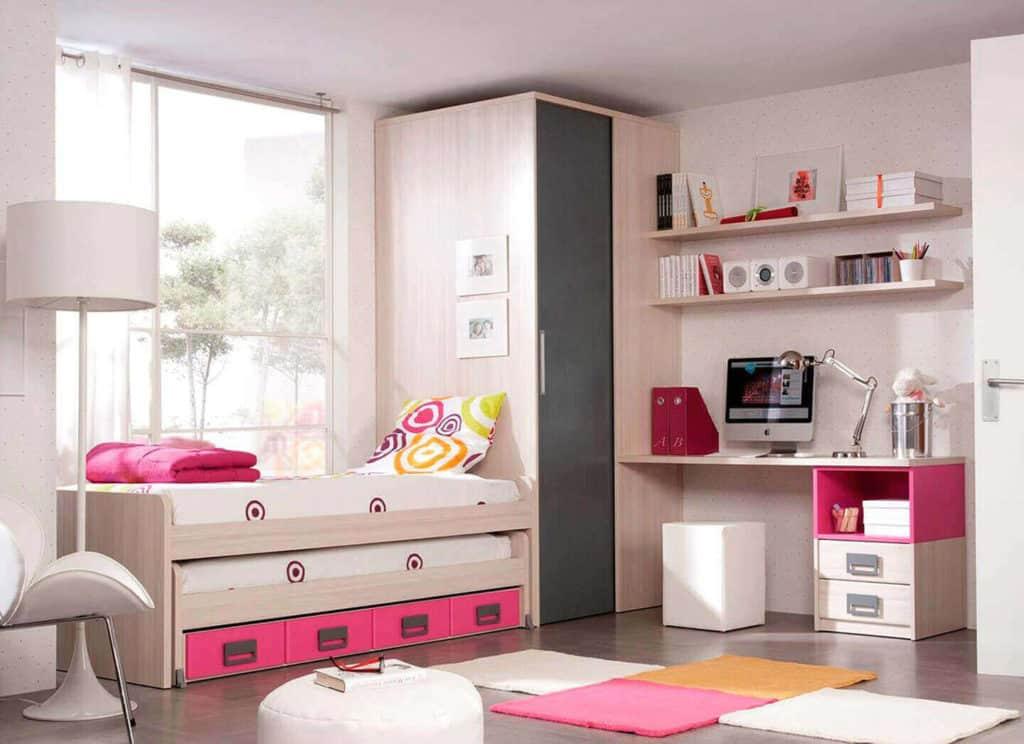 La iluminación es clave en la decoración de dormitorios juveniles pequeños.