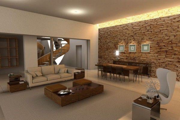 Los revestimientos de piedra son una de las tendencias en decoración de paredes para 2020.