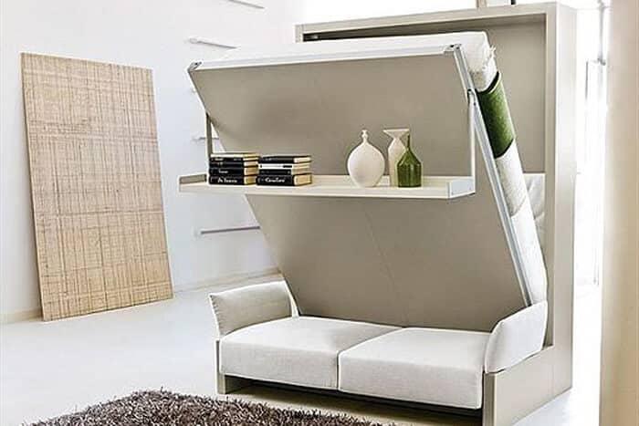 camas empotradas son un ejemplo de muebles multifuncionales de las 10 tendecias de decoración para 2020.