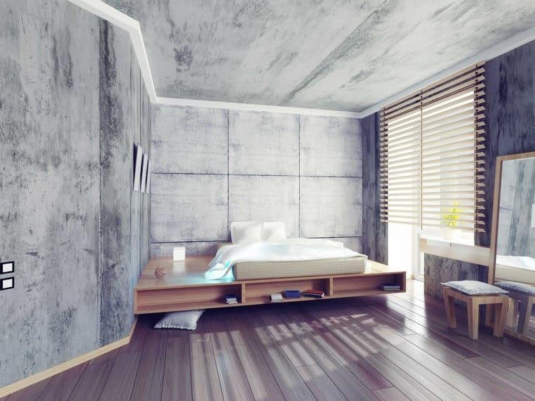 Las paredes de hormigón serán tendencia en 2020.
