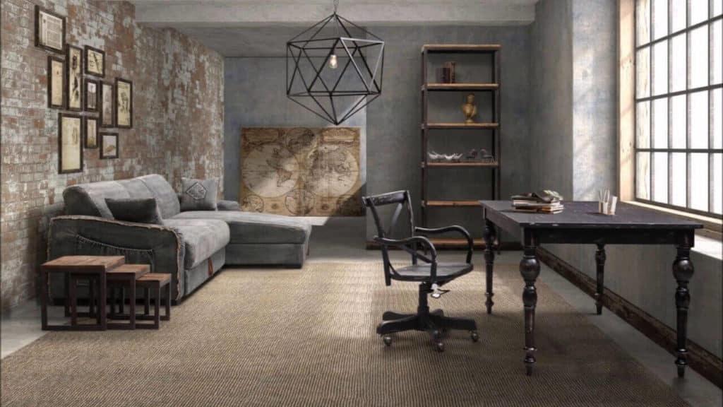 El diseño industrial es una de las tendencias en decoración de interiores para 2020.