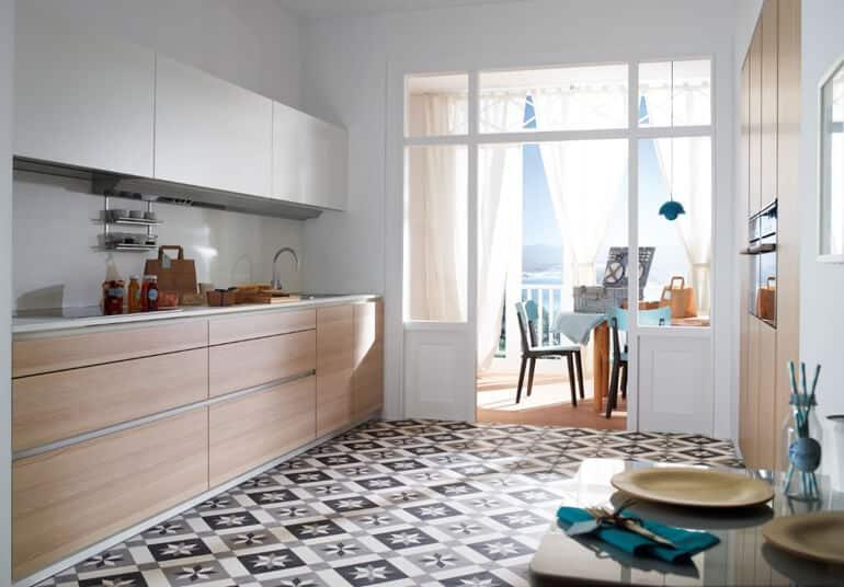 Las cocinas con mosaico hidráulico serán tendencia en 2020.
