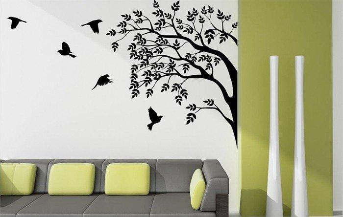Los vinilos decorativos son una de las tendencias en decoración de paredes para 2020.
