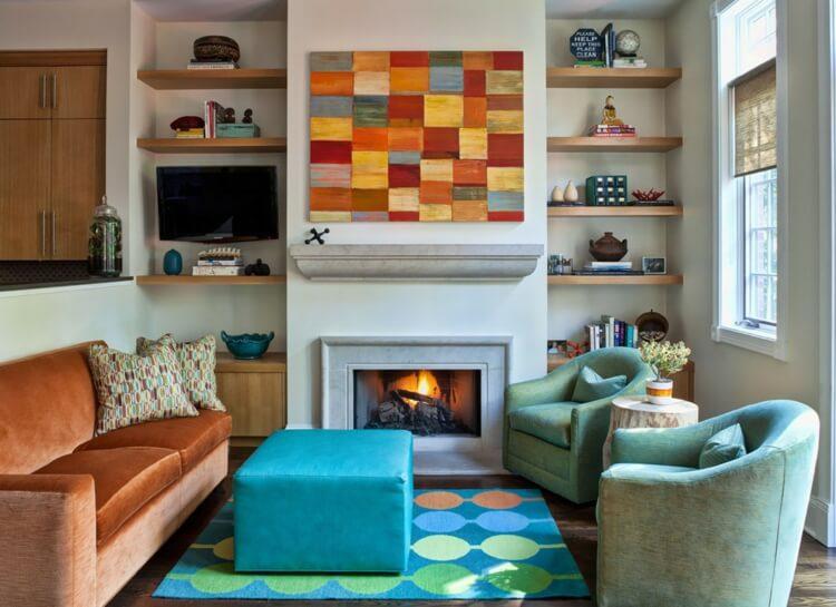 Los accesorios adecuados es una de las mejores ideas de decoración de salas de estar para 2020.