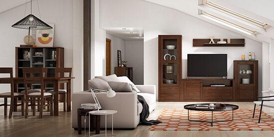 Las salas de estar con zona comedor tienen muchas variantes de decoración.