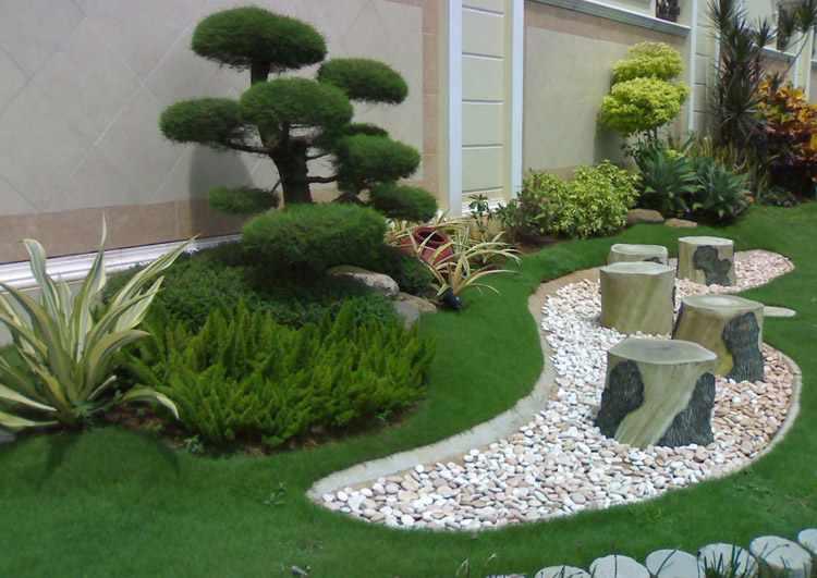Los jardines minimalistas son un acierto en la decoración del exterior de su hogar